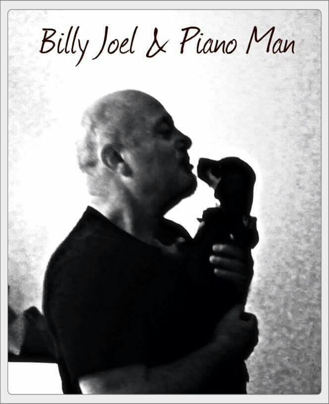 Billy Joel and his doxie, Piano Man