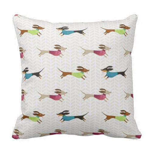 dachshund gifts and throw pillows