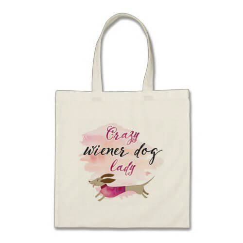 GLITTER! SHOPPING BAG MANY COLOURS CRAZY DOG LADY TOTE