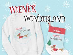 dachshund christmas theme merchandise
